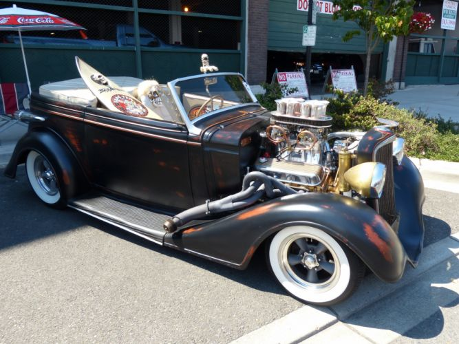 1933 Chevrolet Chevy Roadster Hotrod Hot Rod Old Scholl USA 4000x3000-01 wallpaper
