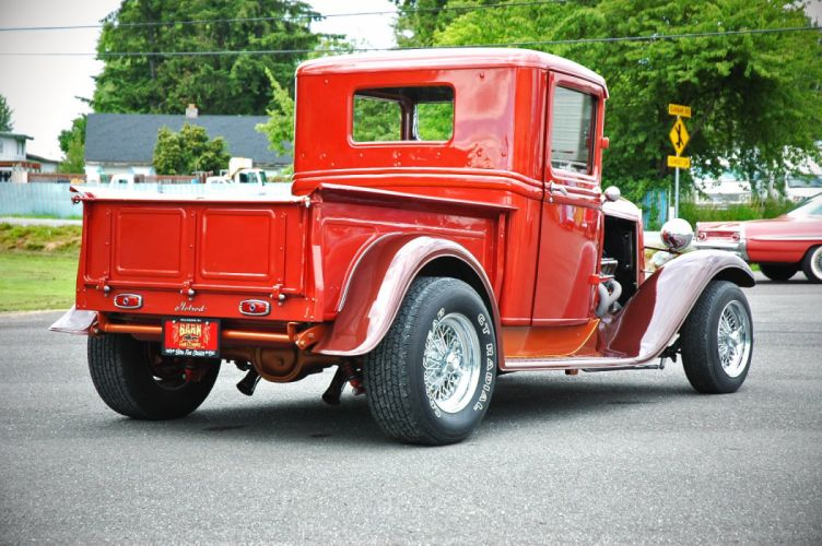 1933 Ford Pickup Hotrod Hot Rod Old School Red USA 1500x1000-07 wallpaper