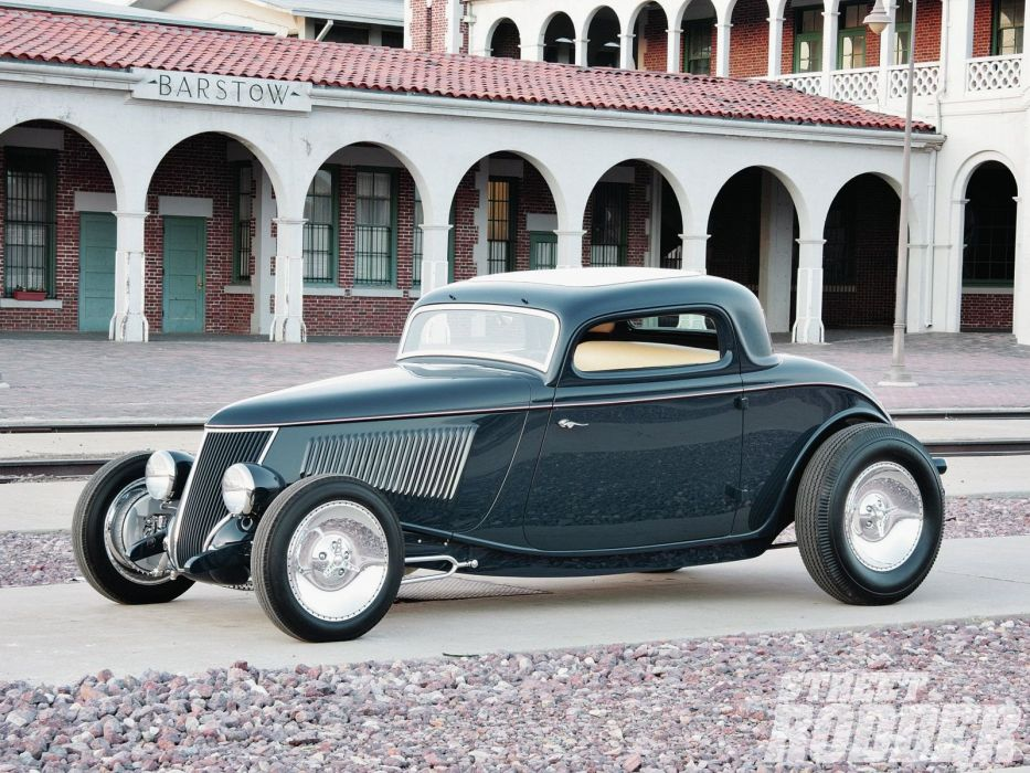 1933 Ford Coupe 3 Window Hotrod Hot Rod Old School USA 1600x1200-01 wallpaper