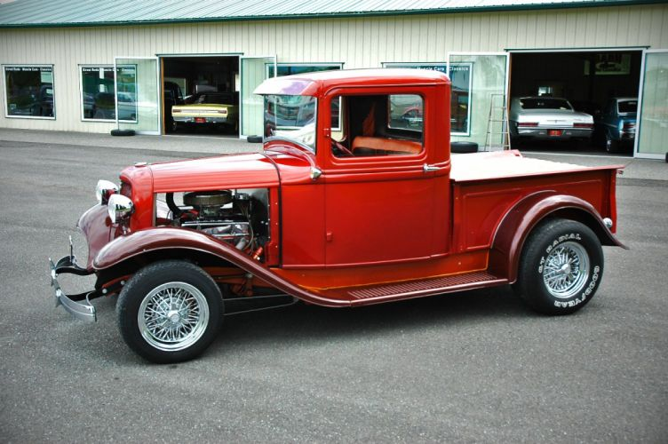 1933 Ford Pickup Hotrod Hot Rod Old School Red USA 1500x1000-11 wallpaper