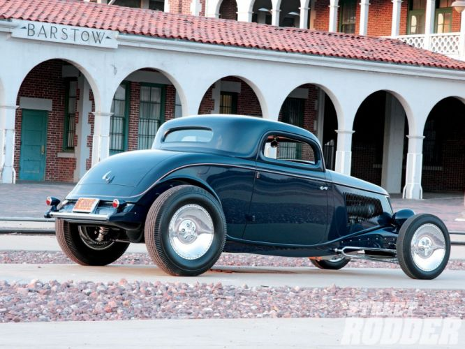 1933 Ford Coupe 3 Window Hotrod Hot Rod Old School USA 1600x1200-02 wallpaper