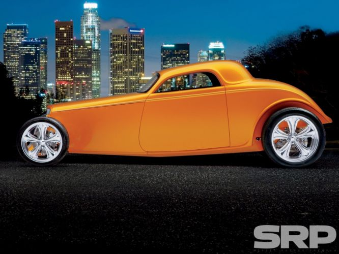 1933 Ford Coupe 3 Window Hotrod Hot Rod Streetrod Street USA 1600x1200-02 wallpaper