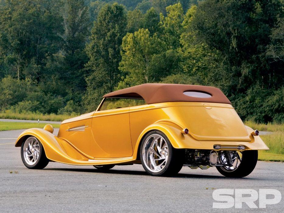 1933 Ford Phaeton Roadster Hotrod Hot Rod Streetrod Street USA 1600x1200-02 wallpaper