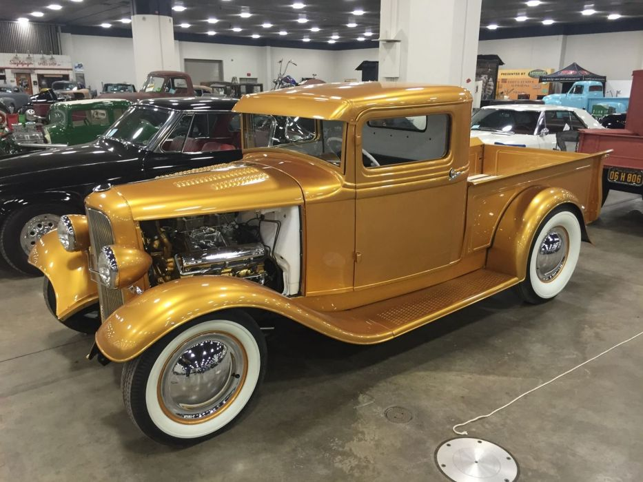 1933 Ford Pickup Roadster Hotrod Hot Rod Custom Old school USA 1800x1350-01 wallpaper