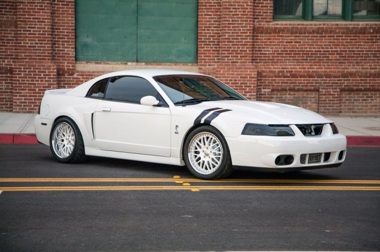 White 2004 Terminator Mustang Cobra cars wallpaper