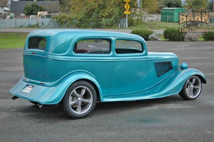 1933 Ford Tudor Sedan 2 Door Hotrod Hot Rod Streetrod Street USA 1500x1000-01 wallpaper