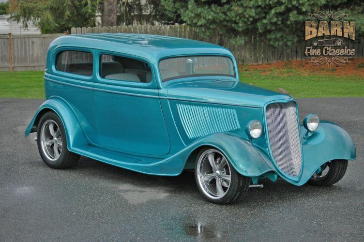 1933 Ford Tudor Sedan 2 Door Hotrod Hot Rod Streetrod Street USA 1500x1000-04 wallpaper