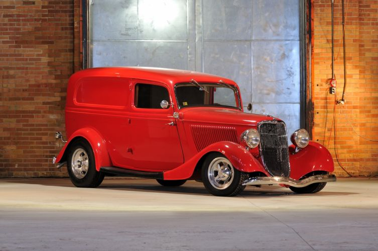 1933 Ford Sedan Delivery Streetrod Hotrod Hot Rod Street Red USA 4200x2790-01 wallpaper
