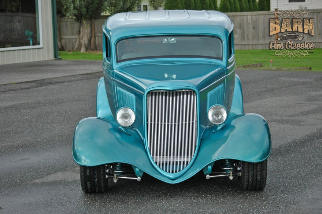 1933 Ford Tudor Sedan 2 Door Hotrod Hot Rod Streetrod Street USA 1500x1000-06 wallpaper