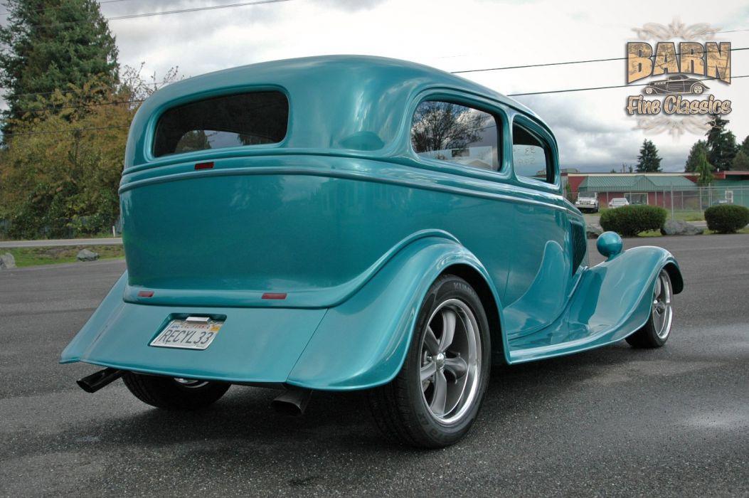 1933 Ford Tudor Sedan 2 Door Hotrod Hot Rod Streetrod Street USA 1500x1000-11 wallpaper