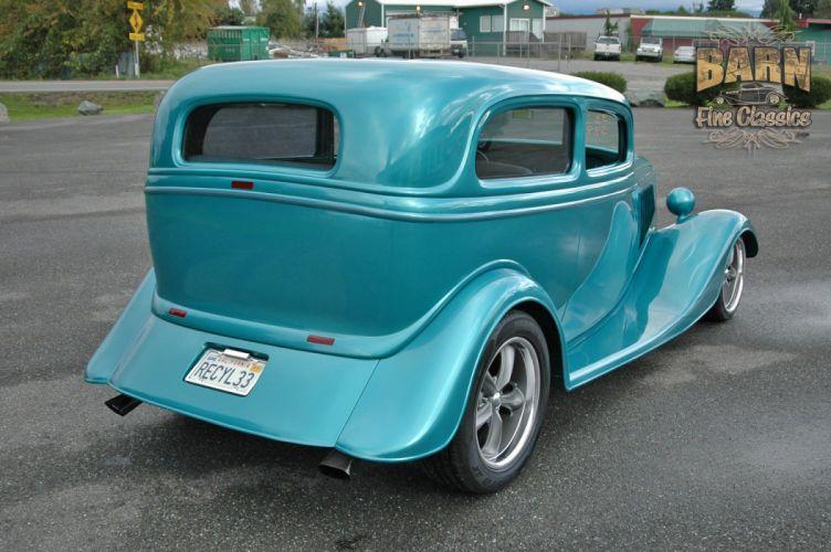 1933 Ford Tudor Sedan 2 Door Hotrod Hot Rod Streetrod Street USA 1500x1000-10 wallpaper