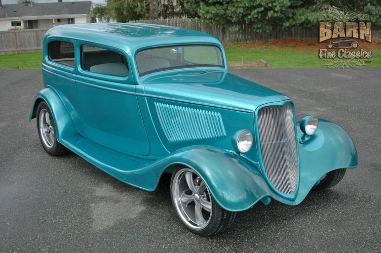 1933 Ford Tudor Sedan 2 Door Hotrod Hot Rod Streetrod Street USA 1500x1000-12 wallpaper