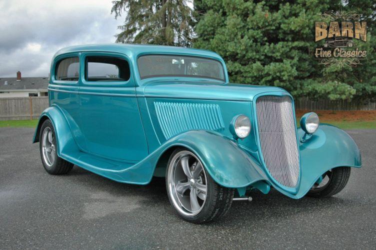 1933 Ford Tudor Sedan 2 Door Hotrod Hot Rod Streetrod Street USA 1500x1000-13 wallpaper
