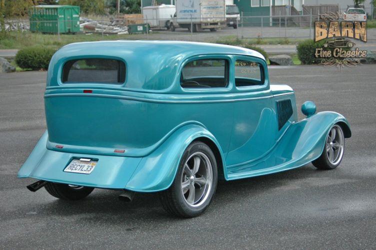 1933 Ford Tudor Sedan 2 Door Hotrod Hot Rod Streetrod Street USA 1500x1000-21 wallpaper