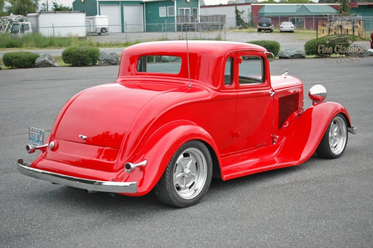 1933 Plymouth Coupe 5 Window Hotrod Streetrod Hot Rod Street Red USA 1500x1000-04 wallpaper