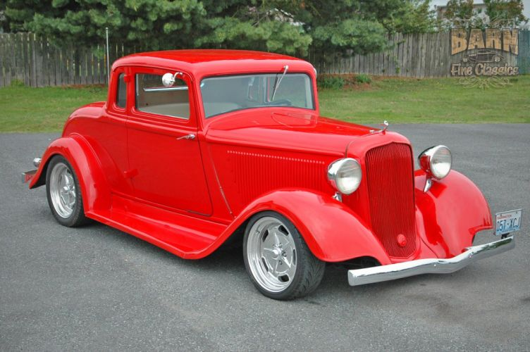 1933 Plymouth Coupe 5 Window Hotrod Streetrod Hot Rod Street Red USA 1500x1000-01 wallpaper