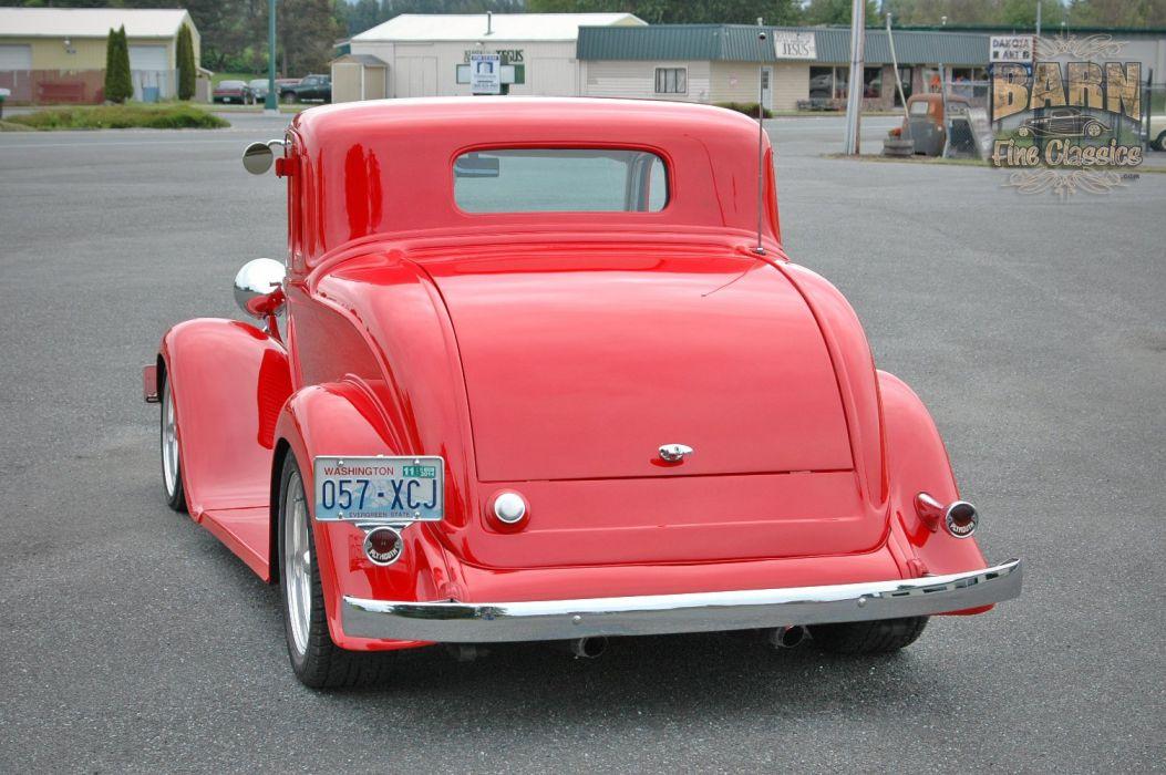 1933 Plymouth Coupe 5 Window Hotrod Streetrod Hot Rod Street Red USA 1500x1000-17 wallpaper