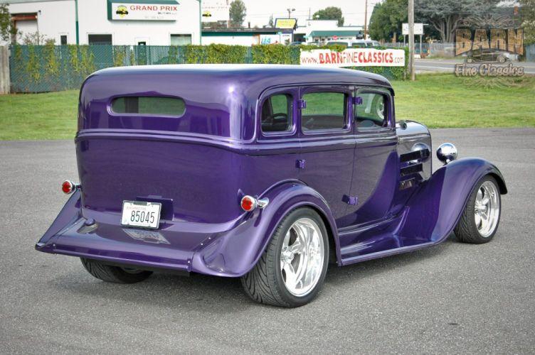 1933 Plymouth Sedan 4 Door Hotrod Streetrod Hot Rod Street Red USA 1500x1000-02 wallpaper