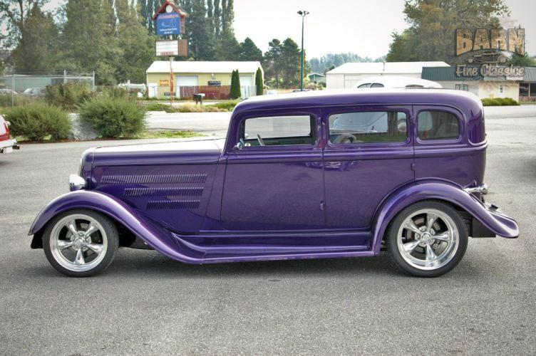 1933 Plymouth Sedan 4 Door Hotrod Streetrod Hot Rod Street Red USA 1500x1000-01 wallpaper