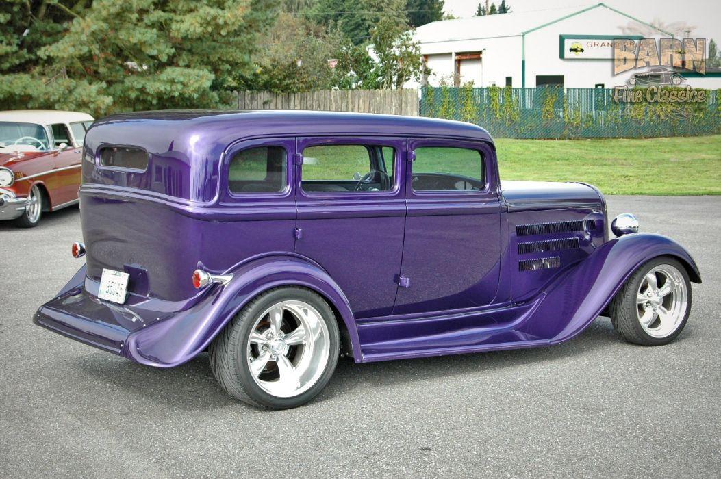 1933 Plymouth Sedan 4 Door Hotrod Streetrod Hot Rod Street Red USA 1500x1000-03 wallpaper