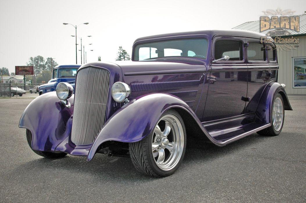 1933 Plymouth Sedan 4 Door Hotrod Streetrod Hot Rod Street Red USA 1500x1000-06 wallpaper