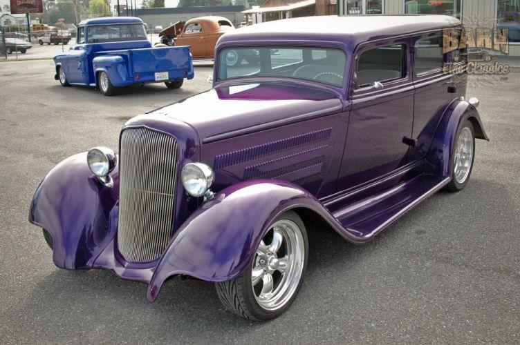 1933 Plymouth Sedan 4 Door Hotrod Streetrod Hot Rod Street Red USA 1500x1000-05 wallpaper
