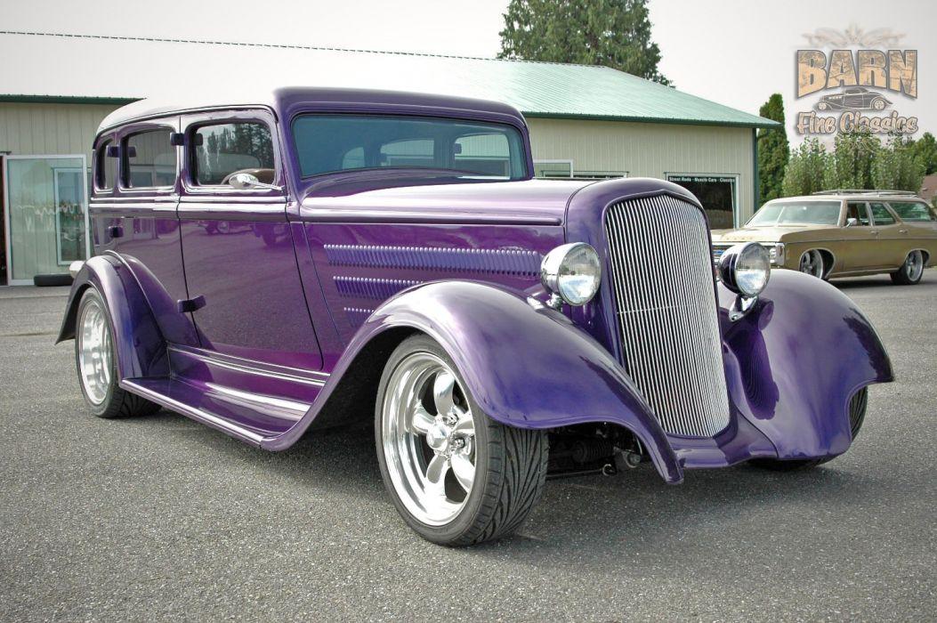 1933 Plymouth Sedan 4 Door Hotrod Streetrod Hot Rod Street Red USA 1500x1000-14 wallpaper