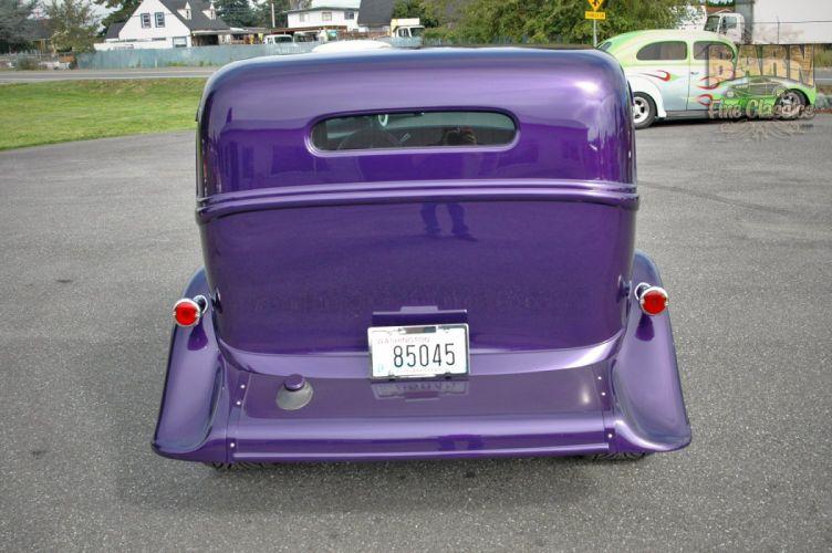 1933 Plymouth Sedan 4 Door Hotrod Streetrod Hot Rod Street Red USA 1500x1000-09 wallpaper