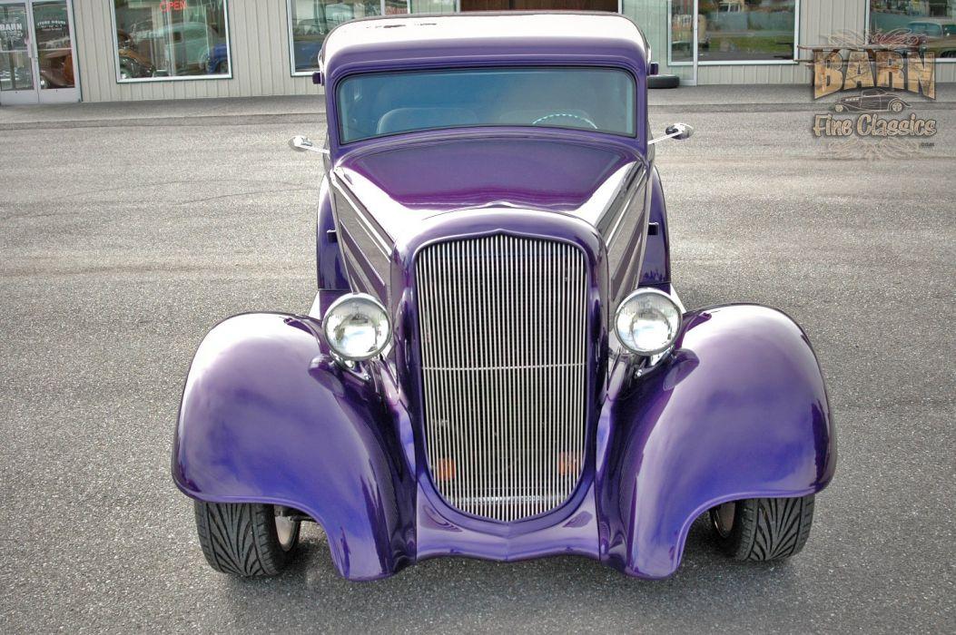1933 Plymouth Sedan 4 Door Hotrod Streetrod Hot Rod Street Red USA 1500x1000-15 wallpaper