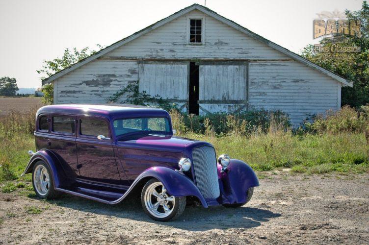 1933 Plymouth Sedan 4 Door Hotrod Streetrod Hot Rod Street Red USA 1500x1000-17 wallpaper