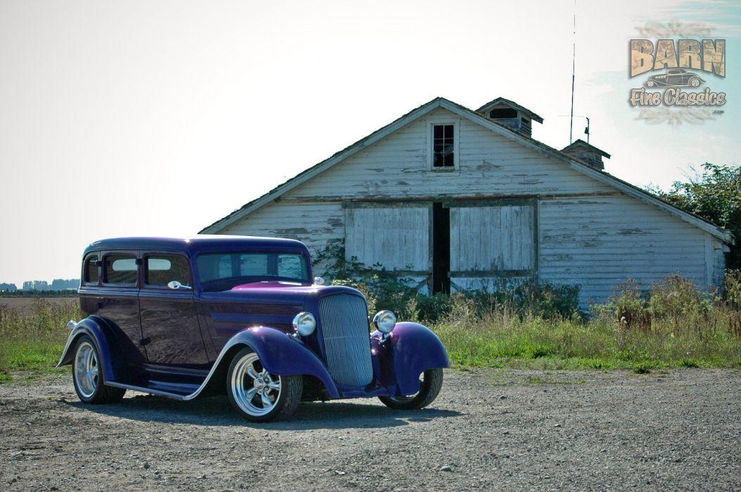 1933 Plymouth Sedan 4 Door Hotrod Streetrod Hot Rod Street Red USA 1500x1000-19 wallpaper