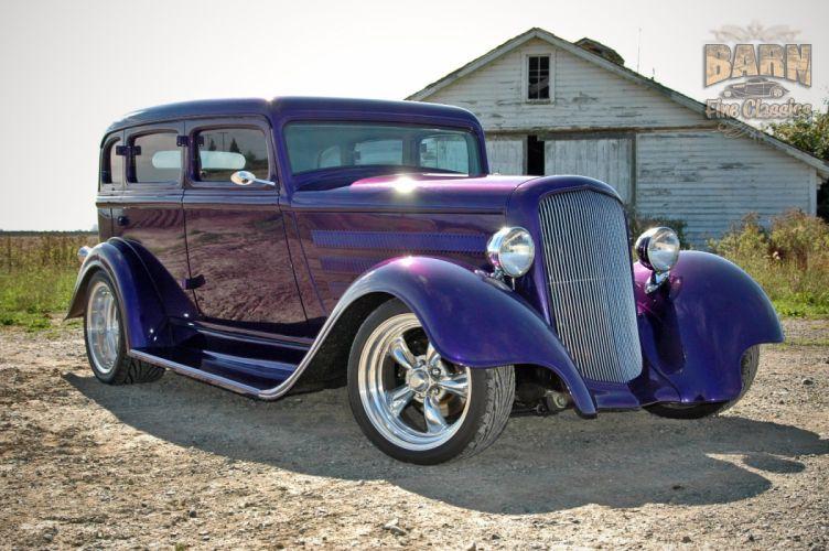 1933 Plymouth Sedan 4 Door Hotrod Streetrod Hot Rod Street Red USA 1500x1000-20 wallpaper