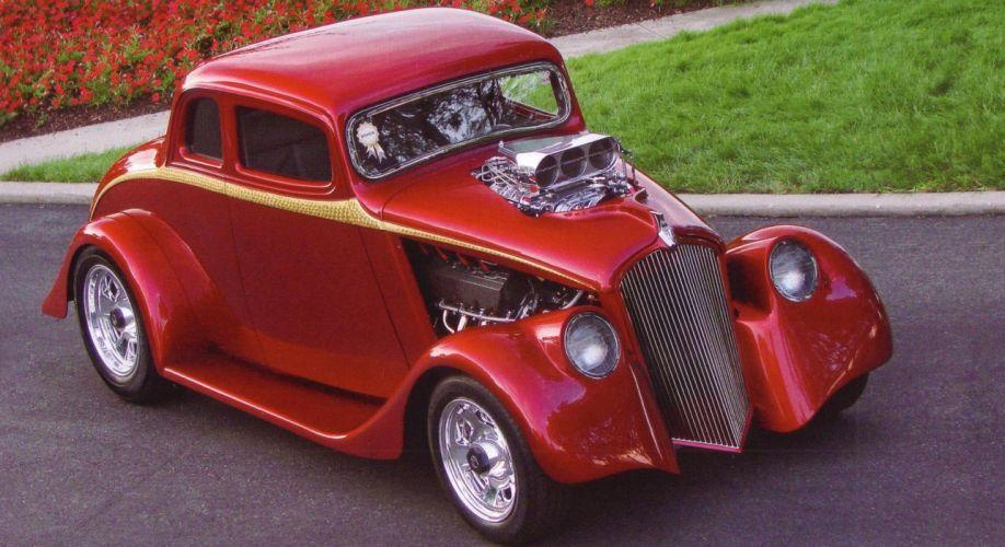 1933 Willys Coupe Hotrod Streetrod Hot Rod Street USA 1800x1035-02 wallpaper