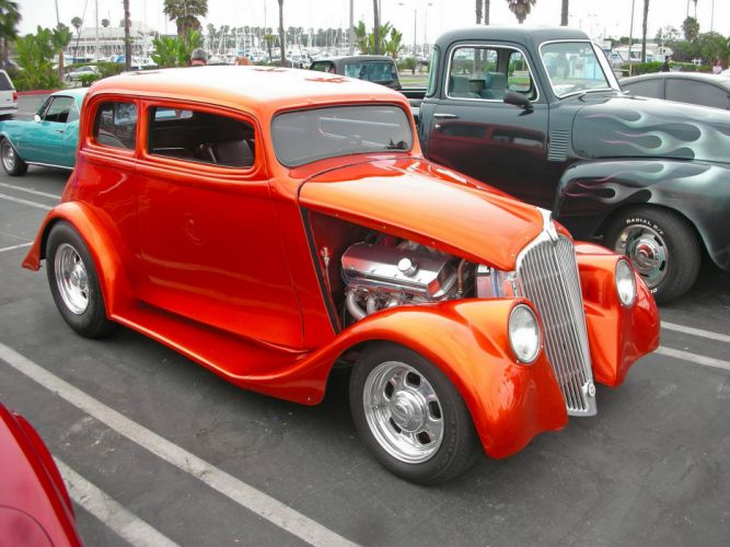 1933 Willys Sedan Hotrod Streetrod Hot Rod Street USA 2800x210001 wallpaper