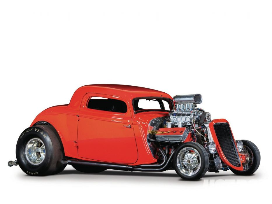 1934 Ford Coupe 3 Window Drag Dragster Race Streetdrag Show Red USA 1600x1200-01 wallpaper
