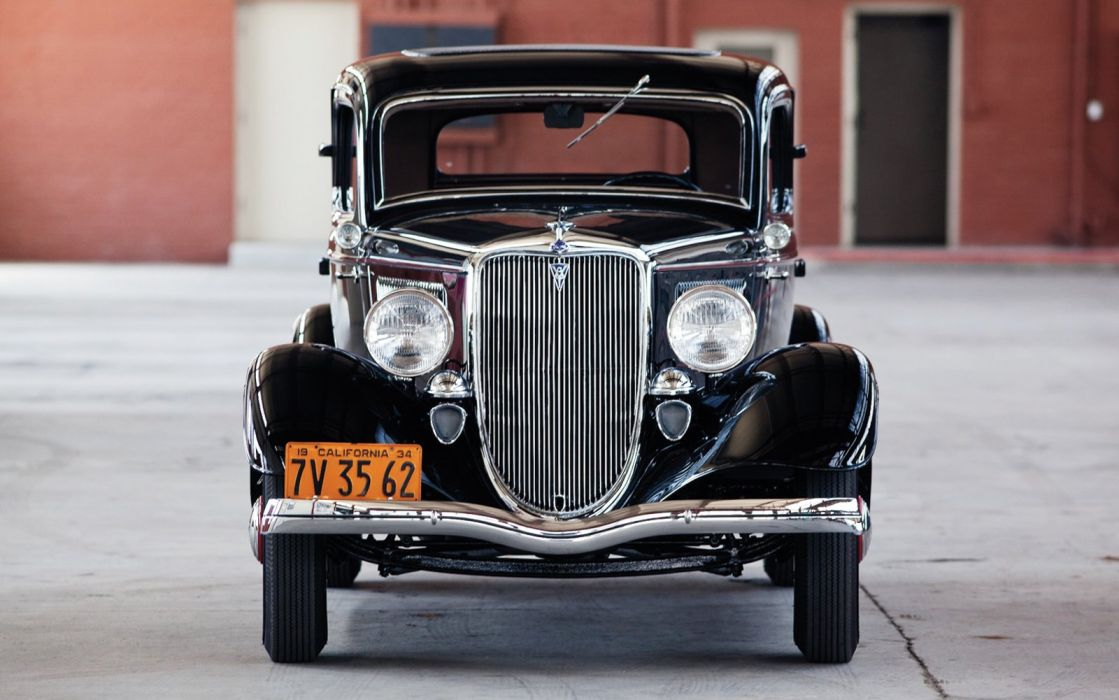 1934 Ford Coupe 3 Window Classic Old Retro Vintage Black USA 1600x1000-01 wallpaper