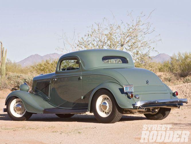 1934 Ford Coupe 3 Window Hotrod Street Rod Hot Rod Old School USA 1600x1200-02 wallpaper