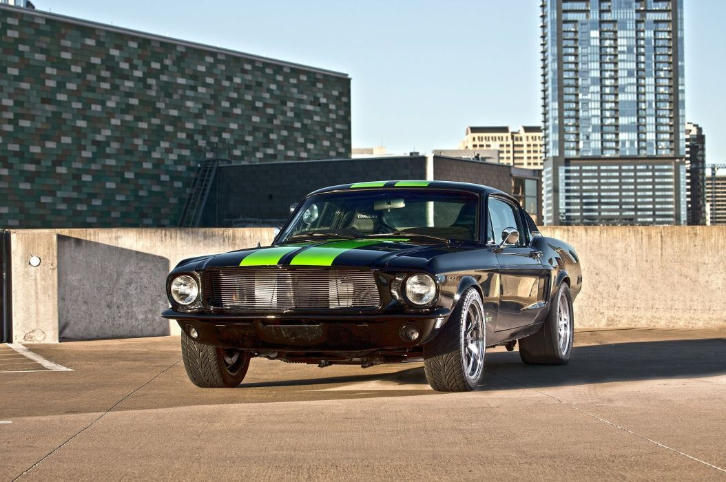 1968 Ford Mustang GT Fastback Eletric Muscle Hotrod Streerod Hot Rod-Street USA 2048x1360-04 wallpaper