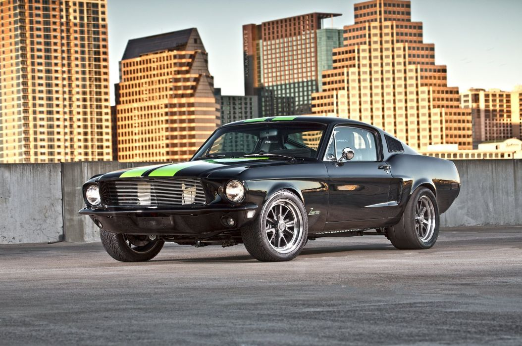 1968 Ford Mustang GT Fastback Eletric Muscle Hotrod Streerod Hot Rod-Street USA 2048x1360-06 wallpaper
