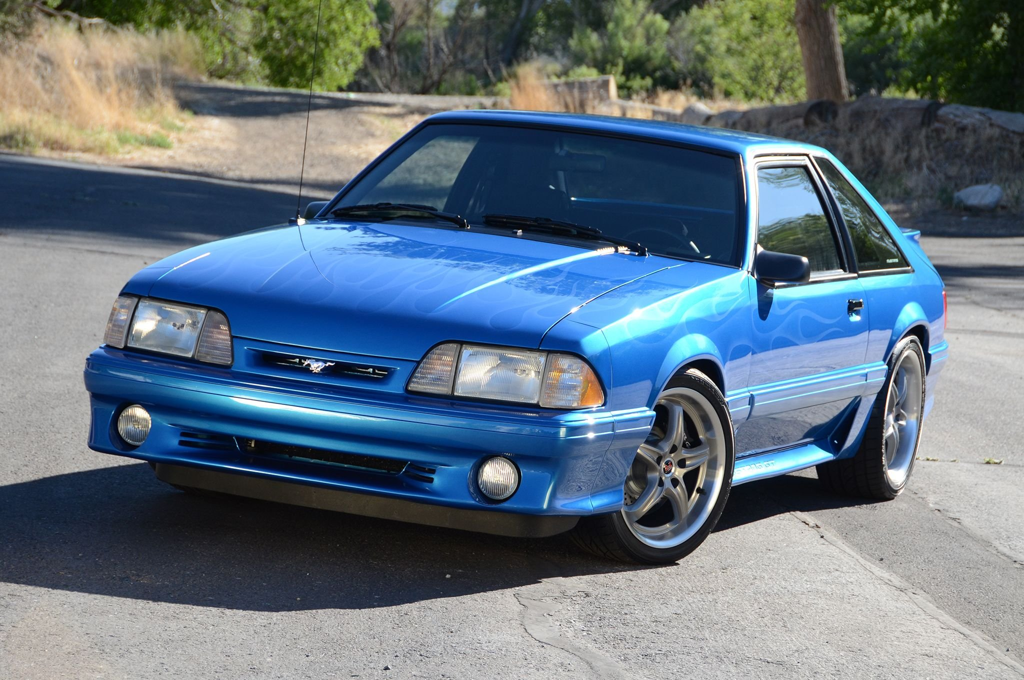 1992 ford mustang gt cars modified blue wallpaper 2048x1360 662280 wallpaperup