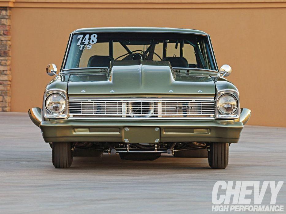 1966 Chevy Nova classic cars drag wallpaper