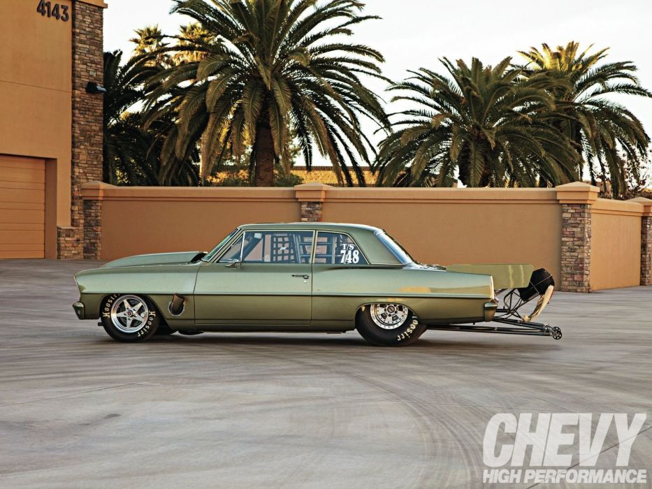 1966 Chevy Nova classic cars drag wallpaper