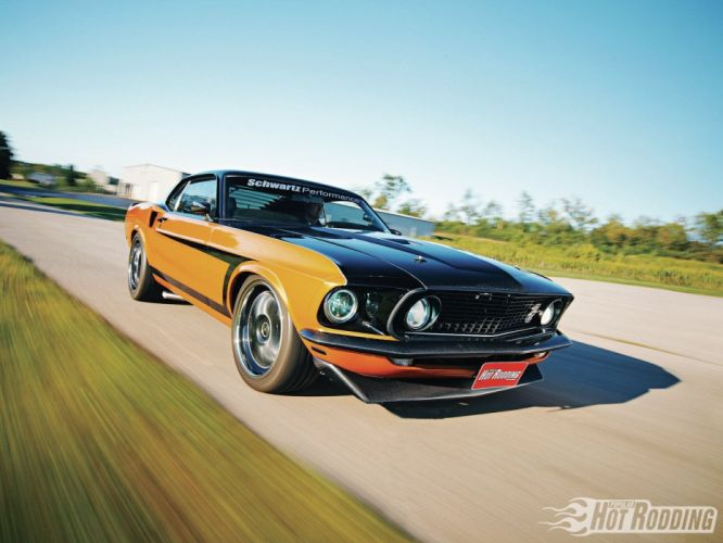1969 Ford Mustang Coupe Pro Touring cars classic wallpaper