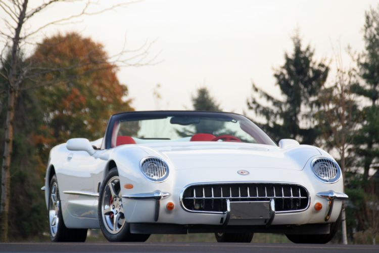2003 Chevrolet Corvette Commemorative Edition Convertible White Muscle Special USA 3072x2048-05 wallpaper