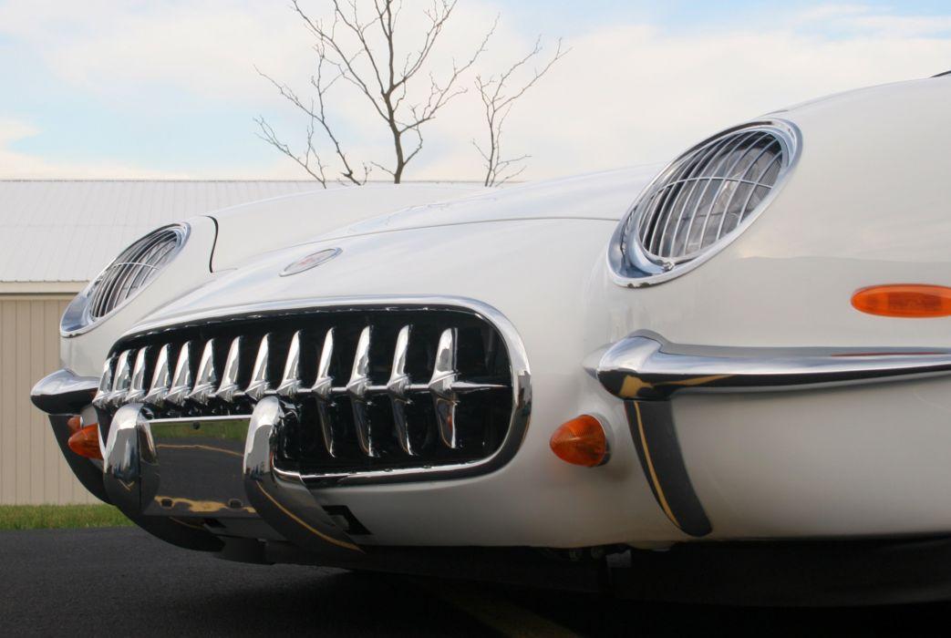 2003 Chevrolet Corvette Commemorative Edition Convertible White Muscle Special USA 3072x2048-07 wallpaper
