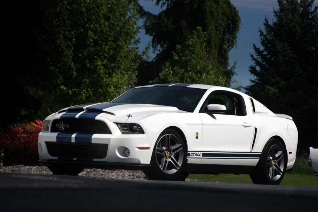 2010 Ford Mustang Shelby GT500 Patriot Muscle Super Car White USA 4096x2730-04 wallpaper