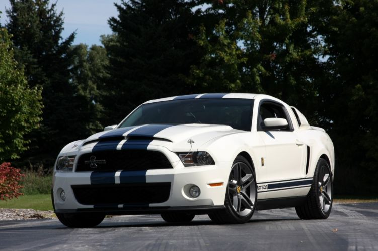 2010 Ford Mustang Shelby GT500 Patriot Muscle Super Car White USA 4096x2730-05 wallpaper