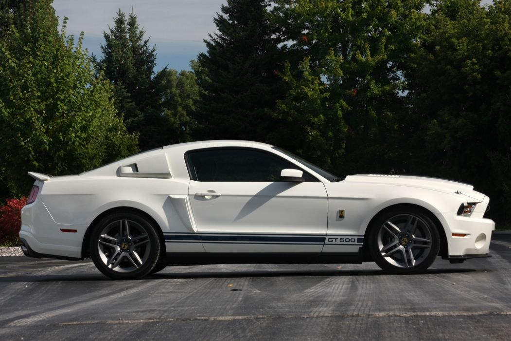 2010 Ford Mustang Shelby GT500 Patriot Muscle Super Car White USA 4096x2730-06 wallpaper