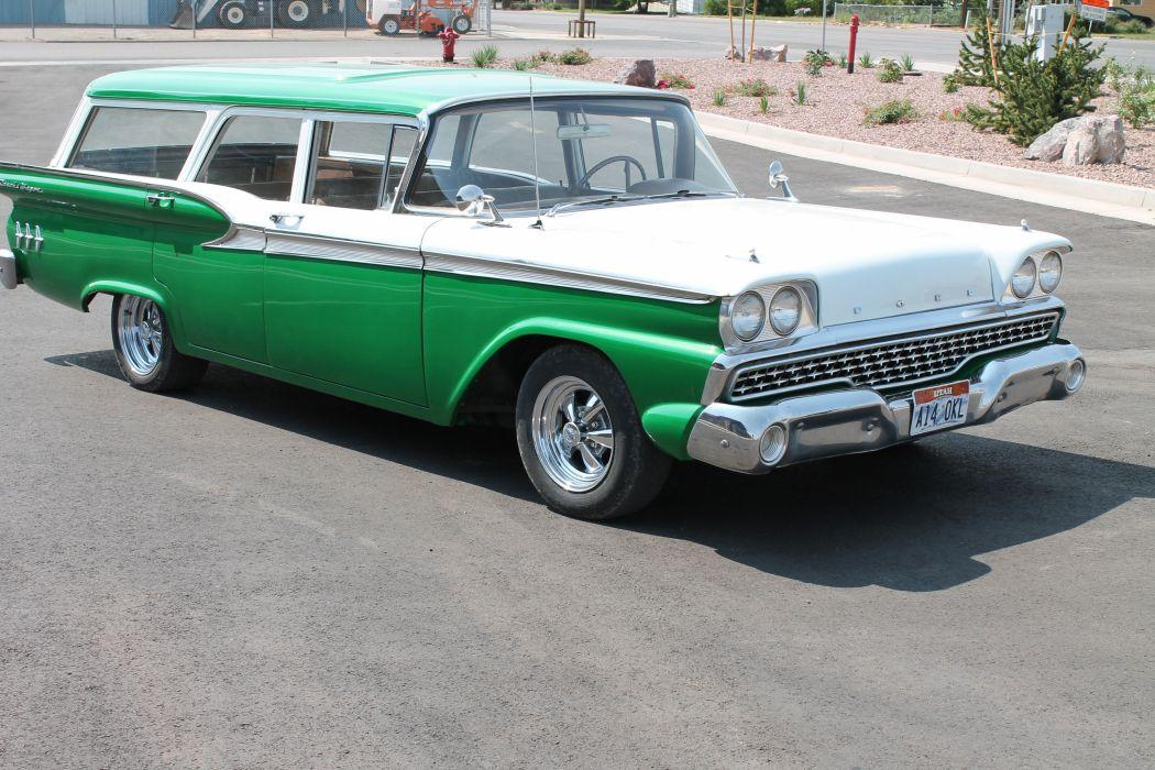 1959 Ford Ranch Wagon Custom Hotrod Streetrod Hot Rod Street USA 4272x2848-01 wallpaper