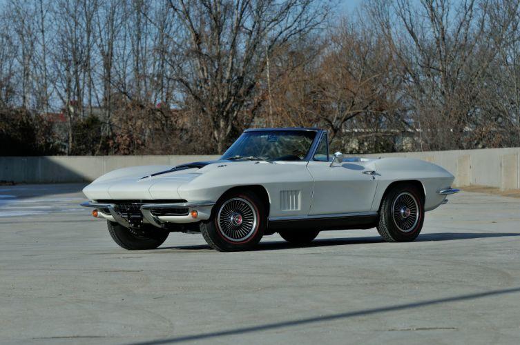 1967 Chevrolet Corvette StigRay 427 Convertible White Muscle Classic USA 4288x2848-01 wallpaper